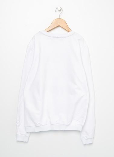 Funky Rocks Sweatshirt Beyaz